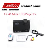 Wholesale 2016 UC46 Multimedia Lumens WiFi Wireless Portable LCD LED Home Theater Projector Support P With IR USB SD HDMI VGA beamer