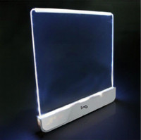 Yes Dry Battery Art Deco High Quality Portable LED Plexiglass Night Panel Book LED Reading Light LED Book Board Wedge Panel Led Book Light Free Shipping