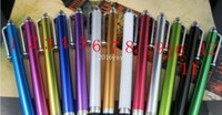Wholesale lotUniversal capacitive touch pen for capacity screen metal stylus pen for iphone s plus samsung S6