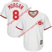 baseball player joe - Cincinnati Reds Joe Morgan Majestic White Home Cool Base Player Jersey