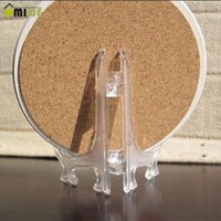 Wholesale 3 Size set Clear Plastic Easels Display Plate Holders