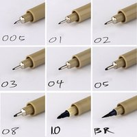 Wholesale 9pc fineliner Sakura Pigma Micron Drawing Pen Brush Waterproof Manga anime comic Pen NOT staedtler