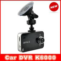 Wholesale Car DVR K6000 P Full HD LED Night Recorder Dashboard Vision Veicular Camera dashcam Carcam video Registrator Car DVRs