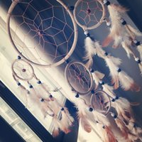 Wholesale DIY Five Circle Dream Catcher Indian Traditional Decorative Gift