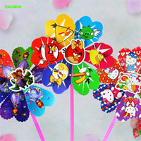 Wholesale 4pcs DIY Cartoon Animals Windmill pinwheel High quality kids handcrafts