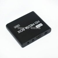 Wholesale Multimidia P Mini HD Media Player Full HDD TV Media Player Support MKV RM SD USB SDHC MMC HDD HDMI BOXCHIP F10