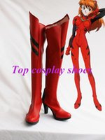 asuka christmas - Freeshipping custom made anime Neon Genesis Evangelion EVA Cosplay Asuka Cosplay Boots shoes for Halloween Christmas festival