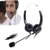 Wholesale Dialpad Headset Corded Phone Headset Telephone Headse Binaural Headphone Binaural Headphone with Mic Microphone pin Rj9 for Desk phone