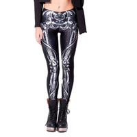 Wholesale Sea Mao BL New arrival leggings for women fashion Mechanical Bones Black Leggings digital print skull leggings