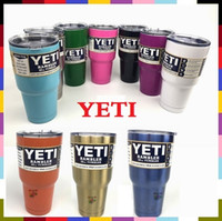 Wholesale Free DHL UPS oz YETI Rambler Tumbler Cup Purple Pink Blue Light Blue Orange Light Green Stainless Steel Tumbler Mug IN STOCK