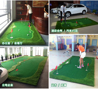 Wholesale custom golf green standard or thickening golf training aids putting green swing trainer mats custom diffrent style cages mats