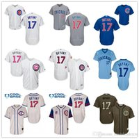 Wholesale Chicago Cubs Kris Bryant Throwback Black Gray Grey Army Green Blue White MLB Baseball Jerseys Outlets