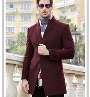Wholesale Real Photo New Style Winter Men s Wool Coat in Long Section of Korean Men s Wool Coat