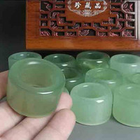 american certificates - With Certificate High Quality Grade A Xiuyan Jade Ring Finger Ring Mens jewelry Thumb Ring Couple Jade Ring Lighter Green