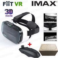 Wholesale FIIT VR N Virtual Reality D Glasses google cardboard for to quot phone with package Bluetooth Wireless Mouse gamepad