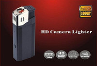 Cheap Full HD 1080P spy lighter camera with flashlight mini lighter camera U Disk spy hidden pinhole camera real lighter mini DVR black V18