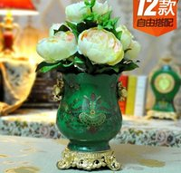 african vase - European Classic Ice lines African Animal High temperature vase Tea Table Decoration Porcelain Home Crafts