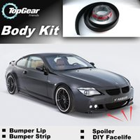 Wholesale Bumper Lip Lips For BMW M6 E24 E63 E64 Front Skirt Deflector Spoiler For Car Tuning The Stig Recommend Body Kit Strip
