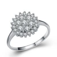 Wholesale CYW jewelry new womens silver jewelry supplier rhodium plated sterling silver clear zircon diamond ring China