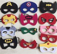 batman party favors - Newest Kids Birthday Party Favors And Ideas Batman Captain America Spiderman Mask Kids Party Costume Super Hero Boys Satin Masks DHL