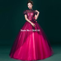 belle south - Customized Cute Short Sleeves Slim host Dresses South Belle Ball Gown Floor Length Stage Show Dress