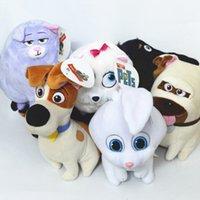 Secrets vidéo Prix-6 Styles 2016 La vie secrète des animaux de compagnie jouets en peluche 8 pouces Cartoon Stuffed Animals 20cm super doux poupées Free EMS