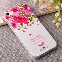 beauty materials - iphone D painted Case Beauty Flower DIY Back Cover for iPhone s Soft TPU Material Shell D TPU cover for iphone5