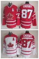 Cheap 2010 Team Canada Ice Hockey Jersey CCM Vintage OLYMPIC Sidney Crosby White Red