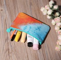 Wholesale 2016 new cosmetic bag clutch purse lovely gift flowers Mini Storage bag casual oxford nylon fabric