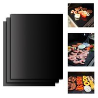 bbq grill ribs - BBQ sheet Barbecue Grill Mats Heavy Duty Non stick for Ribs Shrimps Steaks Burgers Vegetables Reusable for Gas Charcoal Electric Grill Ovens