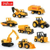 artificial soil - 8 Types MiNi Alloy Construction Vehicle Engineering Car Excavator Dumpers Drill Soil Car Forkfit Artificial For Kid Boys