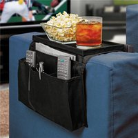 Wholesale 1pc Pockets Sofa Couch Arm Rest Tidy Caddy Organizer Storage Case Bag New Arrival