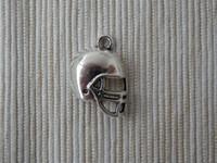 Wholesale 30 Football Helmet Charms Antique Silver Tone Zinc Alloy side NO1006