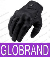 Wholesale Moto Racing Gloves Leather motorcycle gloves cycling gloves Perforated Leather Motorcycle Gloves black color M L XL size GLO480