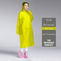 Wholesale Plastics Non Disposable Rain Cover Outdoor Tourist Raincoat For Travel Tour Camping Hiking Rain Cover Detachable Non Disposable Raincoat
