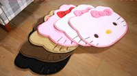Wholesale High Quality Lovely Big Hello Kitty Fuzzy Floor Cushion Mat Pad bedroom Carpet Footcloth Rug