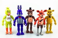 bearing light - 10sets cm Five Nights At Freddy s fnaf Freddys figure With Lighting PVC Action Figures Toys Foxy Freddy Fazbear Bear Doll set