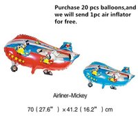 airplane cartoons - Foil Balloons Party Decoration x41 cm Cartoon Fighter Plane JET Airplane Balloon Inflatable Aluminum Film Balloon for Kids Party Supplies