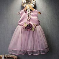 american girl products - 2016 Spring clothes new product Girl exceed temperament fund Three dimensional will Rose income Back Heart dress