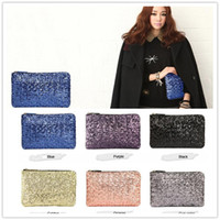 Wholesale Brilliant bags New Evening Bags Ladies Sparkling Bling Sequin Cluth Purse Evening Party Handbag A0128