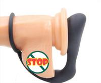 Gancho de silicona Masturbador masculino de próstata estimulador del martillo del anillo anal Massager juguetes del sexo anal Orgasmo Juguetes eróticos productos adultos del sexo para los hombres