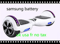 Wholesale Samsung Battery Warehouse In Stock Wheel Balance Scooter Electric Skateboard With Led light Hoverboard For Kids Adult