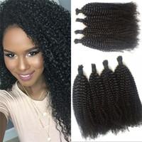 afro bulk - Top Quality Malaysian Hair Bundles G Afro Kinky Curly Hair No Weft Human Hair Bulk for Braiding