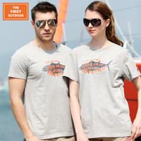 Wholesale THE FIRST OUTDOOR Cotton UP50 T Shirt Women Men Dry Fit Women Tees Sun Protection Anti UV T Shirts Women Hiking Shirt