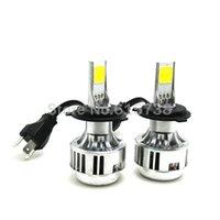 bentley automotive - 1 pair W lm H4 COB LED Car Headlights Kit Auto Front Light H7 Fog Bulb Automotive Headlamp h8 h9 h11 hb3 hb4