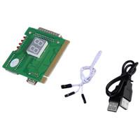 al por mayor usb de diagnóstico de pc-2-Digit USB PCI Motherboard Analizador de Diagnóstico Test Card Laptop PC Desktop