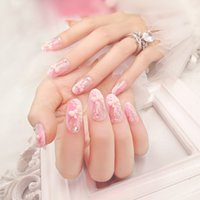 Wholesale False nail products Manicure patch cute bow bride nail box sheets with C15 glue