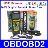 Wholesale 100 Original Memoscan U581 Scanner Live Data U581 Code Reader Free Updated Online CAN BUS OBD2 OBD II Diagnostic Scan Tool