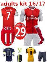 Wholesale Arsenal kit Soccer Jerseys kit WILSHERE OZIL WALCOTT RAMSEY ALEXIS home Away rd Top Thai kit Football shirts