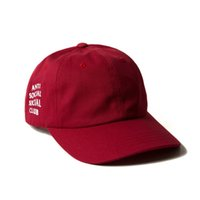 Wholesale Exclusive customized design Anti Social Social Club Panel Unstructured Hat pinkTravis Scotts Cap panel snapback cap